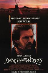 Dances With Wolves movie poster [Kevin Costner] 25x38 video version NM