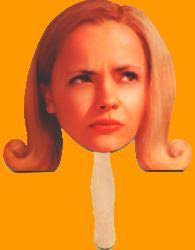 Pumpkin (2002) Christina Ricci paper mask (10'') VG to Nr. Mint