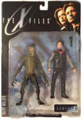 X Files Fight the Future: Agent Mulder & Alien figure (McFarlane/1998)