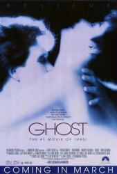 Ghost movie poster [Patrick Swayze, Demi Moore] 27x40 video version