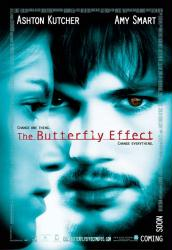 The Butterfly Effect movie poster [Ashton Kutcher & Amy Smart] 27x40