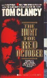 The Hunt For Red October paperback book/1990 [Sean Connery on cover]