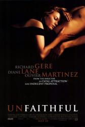 Unfaithful movie poster [Diane Lane] 27x40 original GD