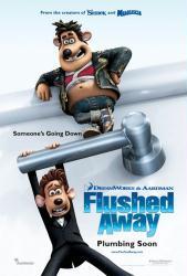 Flushed Away movie poster (2006 animated film) original 27x40 advance