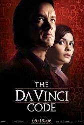 The Da Vinci Code movie poster [Tom Hanks, Audrey Tautou] 27x40 VG