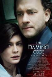 The Da Vinci Code movie poster [Tom Hanks & Audrey Tautou] NM