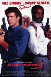 Lethal Weapon 3 movie poster [Mel Gibson, Danny Glover & Joe Pesci] NM