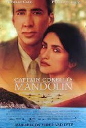 Captain Corelli's Mandolin movie poster [Nicolas Cage & Penelope Cruz]