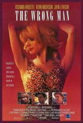 The Wrong Man movie poster [Rosanna Arquette & John Lithgow]