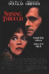 Shining Through movie poster [Melanie Griffith & Michael Douglas]
