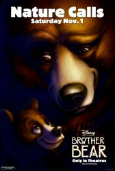Brother Bear movie poster [Disney] original 27x40 advance VG