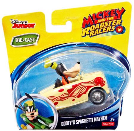 MICKEY AND THE ROADSTER RACERS GOOFY/'S SPAGHETTI MAYHEM DIECAST VEHICLE