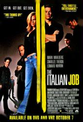 The Italian Job movie poster [Mark Wahlberg/Charlize Theron] video/F