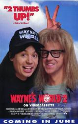 Wayne's World 2 movie poster [Mike Myers, Dana Carvey] 27x40 video