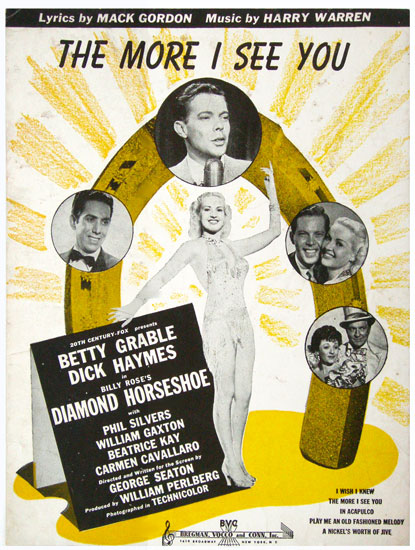 Apologise, but, dick haymes the more i see you