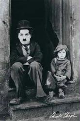 Charlie Chaplin & Jackie Coogan poster (24x36) The Kid