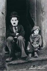 Charlie Chaplin & Jackie Coogan poster (24x36) The Kid