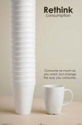 Rethink Consumption (23'' X 35'' Conservation Poster) New