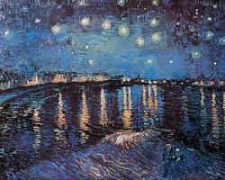 Vincent Van Gogh poster: Starlight Over the Rhone (36'' X 24'')