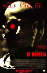 12 Monkeys movie poster [Bruce Willis, Brad Pitt & Madeleine Stowe]