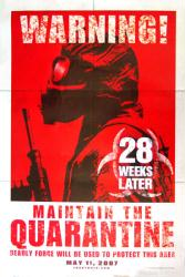 28 Weeks Later movie poster (2007) 27x40 video version