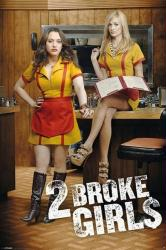 2 Broke Girls poster: TV series [Kat Dennings/Beth Behrs] 24'' X 36''