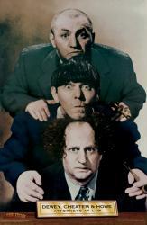 Three Stooges poster: Dewey, Cheatem & Howe (24'' X 36'') 3 Stooges