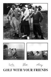 Three Stooges poster: Golf With Your Friends (24'' X 36'') 3 Stooges