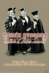 The Three Stooges poster: Institute of Higher Learnin (24'' X 36'')