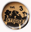 The 3 Stooges pinback: Vintage 1.25'' Button