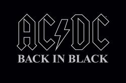 AC/DC poster: Back In Black album cover art (36x24)