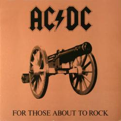AC/DC poster: For Those About to Rock We Salute You vintage album flat