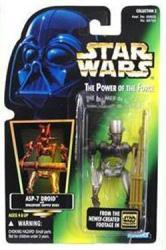 Star Wars [POTF] ASP-7 Droid action figure (Kenner/1996) Holofoil