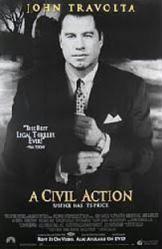 A Civil Action movie poster [John Travolta] 26x40 video version NM