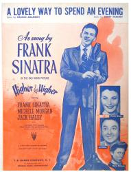 A Lovely Way to Spend An Evening vintage sheet music [Frank Sinatra]