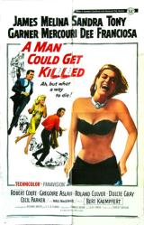 A Man Could Get Killed movie poster [James Garner, Sandra Dee] 27x41