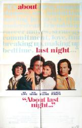 About Last Night... movie poster (1986) [Rob Lowe, Demi Moore] 27x41