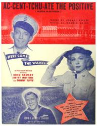 Ac-Cent-Tchu-Ate the Positive sheet music [Bing Crosby, Hutton] VG