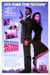 Action Jackson movie poster [Carl Weathers & Vanity] original 1988