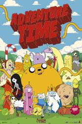 Adventure Time poster: Characters (24x36) Cartoon Network series