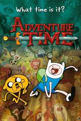Adventure Time with Finn & Jake poster (24'' X 36'') What TIme Is It?
