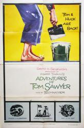 The Adventures of Tom Sawyer movie poster (1958 re-release) 27x41