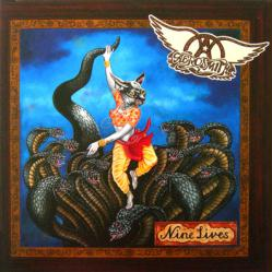 Aerosmith poster: Nine Lives vintage LP/Album flat (1997)