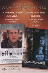 Affliction/Gods And Monsters movie poster [Nick Nolte, Ian McKellen]