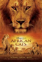 African Cats movie poster (Disney Nature documentary) original 27 X 40