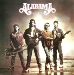 Alabama poster: Alabama Live vintage LP/Album flat