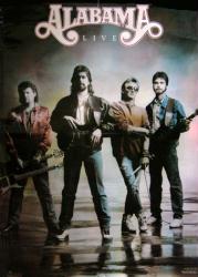 Alabama poster: Alabama Live (24x33 promo poster) 1988