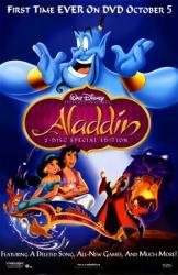 Aladdin movie poster [Walt Disney] original 26x40 DVD poster