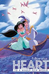 Aladdin movie poster: Follow Your Heart (Disney) 22x34