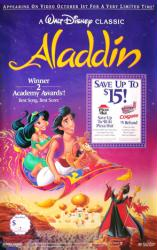 Aladdin movie poster [Disney] original 26x40 video poster